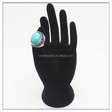Fashion ring jewelry turquoise alloy ring