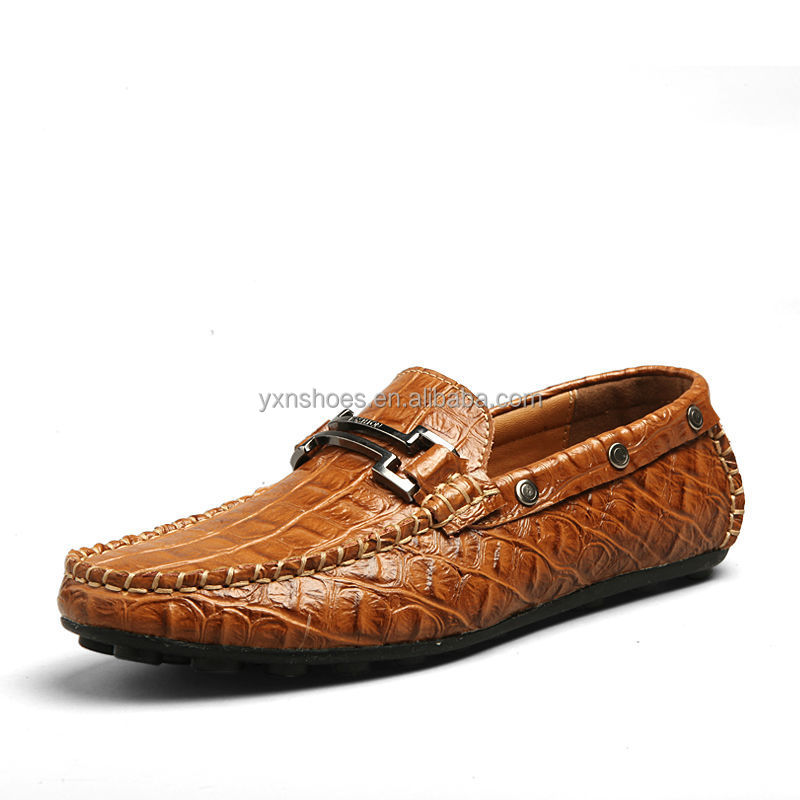 2015 fashion casual shoes for with crocodile leather