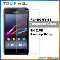 Alibaba china factory wholesale price!anti-shock 9H 2.5D HD tempered glass screen protector for Sony Xperia E1 E4/5 mobile phone