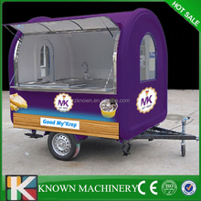 New model client customized logo Ice Cream roll food van,mobile fast food van for sale
