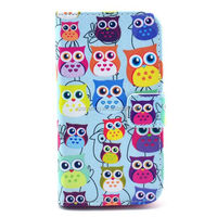 Leather case for Motorola Moto X with wallet owl design
