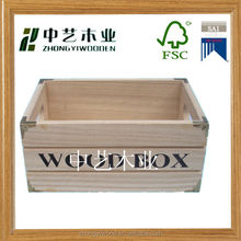 Antique popular solid wood wine crates/cheap vintage wooden fruit crates for sale