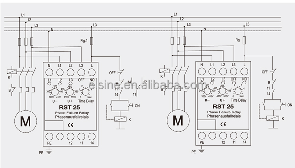 rst25 electronic voltage relay buy over under voltage relays phase rh alibaba com  phase failure relay wiring diagram pdf