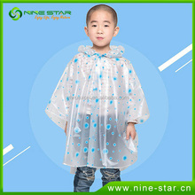 Waterproof Promotional Transparent Plastic Raincoats for Kids