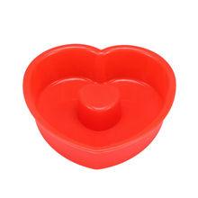 en forma de corazón de silicona moldes de decoración de pasteles