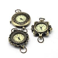 Vintage Antique Bronze Watch Head Alloy Watch Components