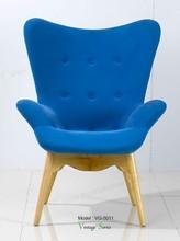 Triumph Tufted Wingback Chair / Contemporary Bright Blue Lounge Chair Sofa