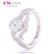 Wedding Diamond Cleaning Silver S925 Imitation Ring