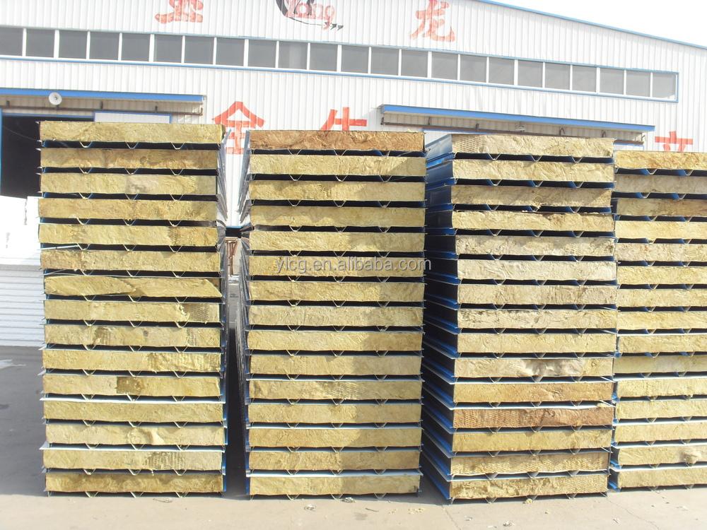 Rockwool insulated metal roof sandwich panel buy roof for Rockwool insulation panels