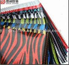 2012 Hot Selling DERUN PVC bag glitter fbric leather