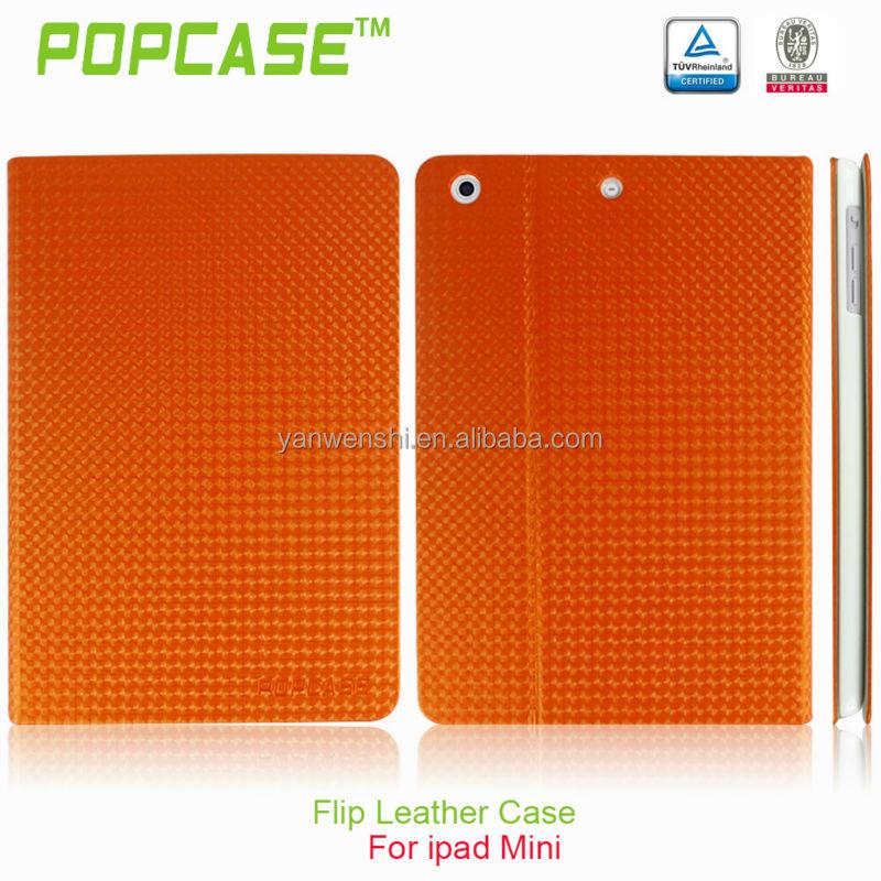 Latest book style leather case for ipad mini 2