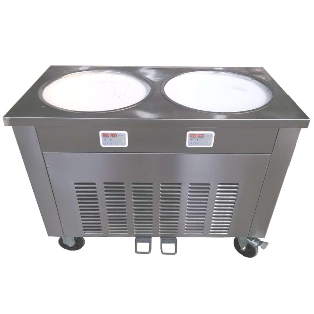 CB900 Таиланд стиль roll обжарить машина мороженого двойной плоской сковороде обжарить Мороженого рулонной машины