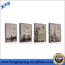 Retro Eiffel Tower Pattern PU Leather Case for iPad Mini with stand function.