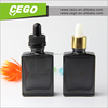 Shipping by sea DDU black frosted/matte 15ml glass dropper bottles rectangular with childproof dropper for vapor e-juice