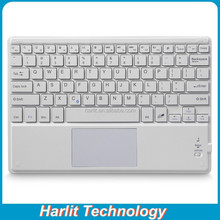 Ultrathin Wireless Bluetooth Keyboard Integrated Touchpad For Apple Android Windows Tablet PC With Leather Cover Case Optional