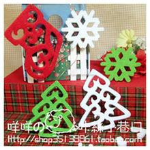 Hot sale ! christmas hanging felt decor for tree ,custom order fation felt decor