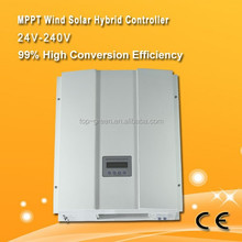 factory popular selling wind turbine 2000W solar current 10A hybrid solar wind charge controller
