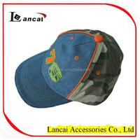 2016 wholesale boys denim embroidered numbers velcro adjustable baseball cap