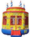torta de cumpleaños inflable castillo