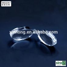 de acrílico transparente de gafas de plástico lente hecho en china