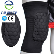High Quality with competitive price Breathable Honeycomb Knee Pad Bumper Tight Protective Kneelet for football basketball