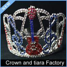 Happy birthday Guitar queen crown for kids