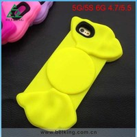 Bow-knot Silicone Jelly Soft Case For Apple iPhone 6, For iPhone 6 3D Rubber Silicone Case