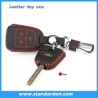 Leather Key fob Holder Case Chain Cover FIT For Chevrolet