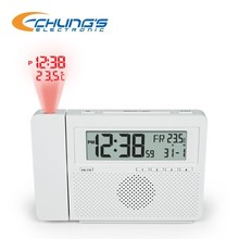 AM/FM clock radio with projection and temperature
