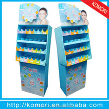 Cstomed recycled cardboard display rack