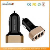 Speed Charge 3 port usb car charger , 5.2A car USB charger , 3 port mini car charger