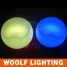 colors control led round shaped lounge chair