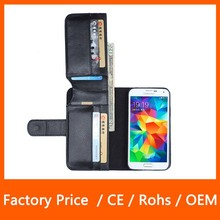 Multi Function PU Leather Wallet Cell Phone Case for Samsung Galaxy S5 I9600
