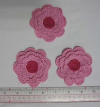 crochet parches de flores bordadas de algodón para ropa de los niños