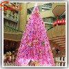 2015 New product Guangzhou giant pvc led lighted pink Christmas tree ornament pine needle trees festival decoration