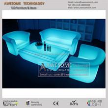 fashion sofa set/ remote controlled polyethylene molded sofa