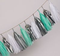 35cm Cheap Hanging party decorations Tissue tassel paper garland