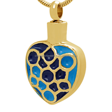 Colorful Enamel Gold Plated Cremation Urns Pendant Jewelry Cremation Ashes Pendant Always in My Heart Pet