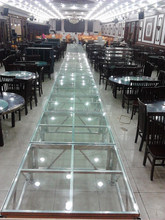 Qualified beautiful glass stage from stage telescopic/adjustable/flexible stage