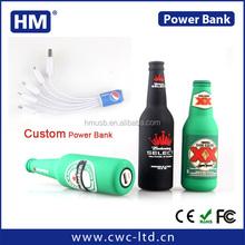 New arrival bear bottle shape Custom power bank for smart phone of 2200/2600MAH custom solution PVC/SILICONE