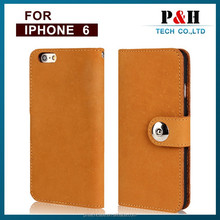 2015 New arival high class alibaba express for iphone 6 genuine leather flip case , 100% real leather wallet case for iphone 6