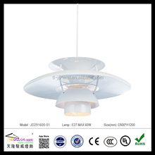 hot sale aluminum pendant lamp contemporary chandeliers white home decoration lamp