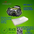 Matérias-primas químicas de borracha de silicone para toucas de natação óculos de natação fazer