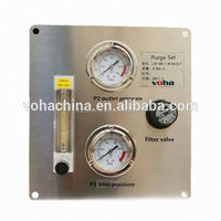 medical oxygen regulator with fow meter