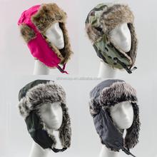 Winter trapper hat unisex earflap hat faux fur aviato trooper hat