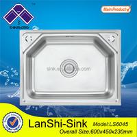 LS6045 heat stainless steel kitchen sink one piece bathroom countertops with built in sinks