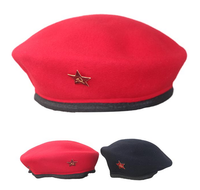 China wholesales high quality low price 100% wool hot selling cheap beret cap