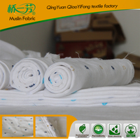 100% cotton or bamboo Muslin Baby Wraps organic cotton fabric for baby blankets