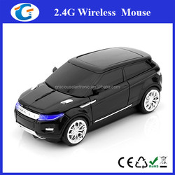 Cool design 2.4g wireless car mouse with blue headlight