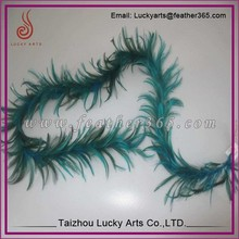 Lucky arts Wholesale Dyed green Thick Fluffy Turkey Chandelle Feather Boa